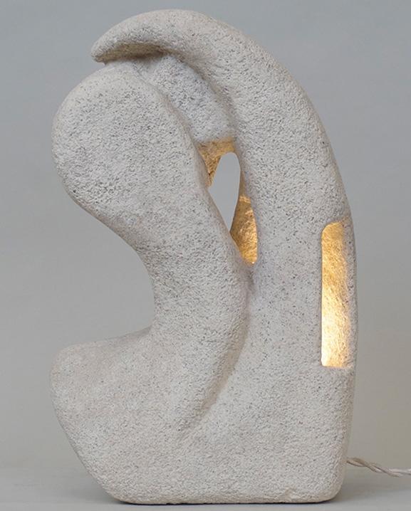 L 233 – Lampe pierre  Haut : 31 cm / 12.2 in.