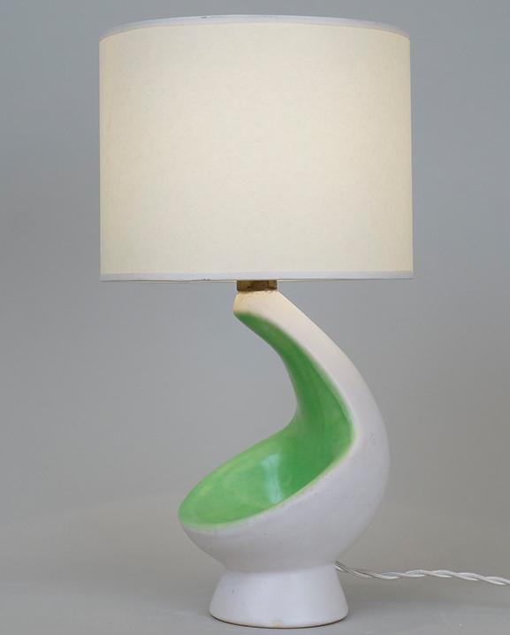 L 306 – Lampe bicolore   Haut : 34 cm / 13.4 in.