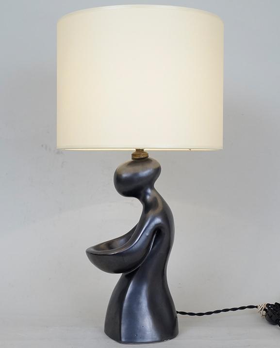 L 348 – Lampe noire  Haut : 46 cm / 18.1 in.