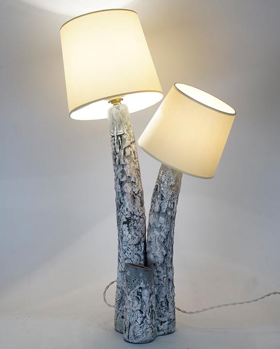 L 374 – Lampe Giraud   Haut : 62 cm / 24.4 in.