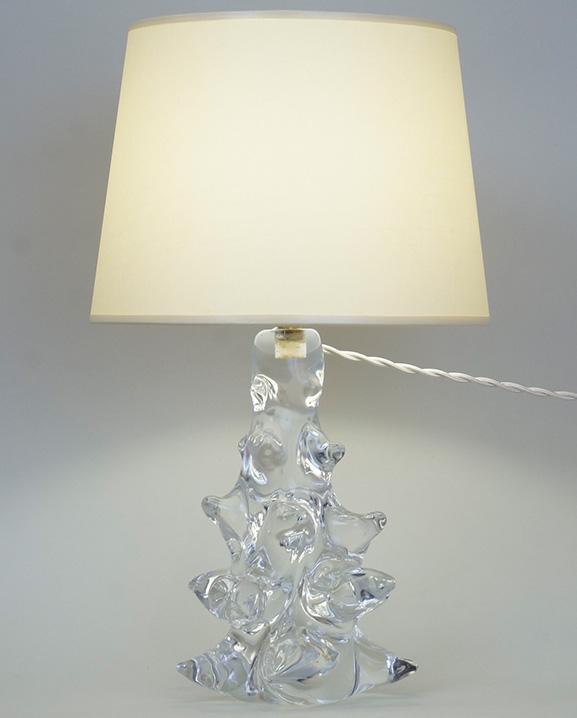 L 394 – Lampe cristal  Haut : 37 cm / 14.6 in.