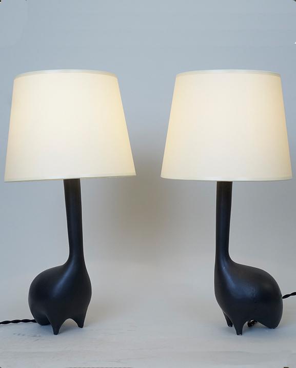 L 425 – Paire de lampes   Haut : 36 cm / 14.2 in.