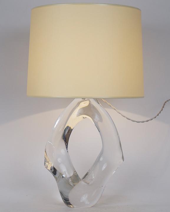 L 432 – Lampe cristal   Haut : 50 cm / 19.7 in.