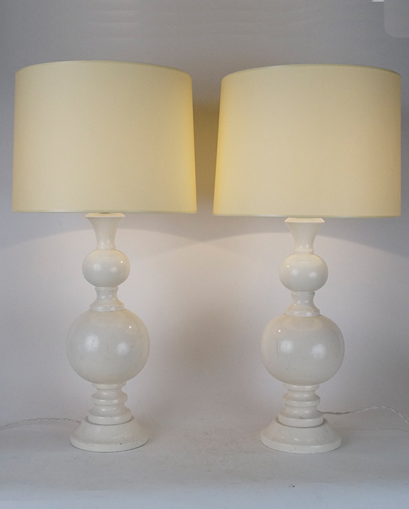 L 451 – Paire de lampes  Haut : 64 cm / 25.2 in.