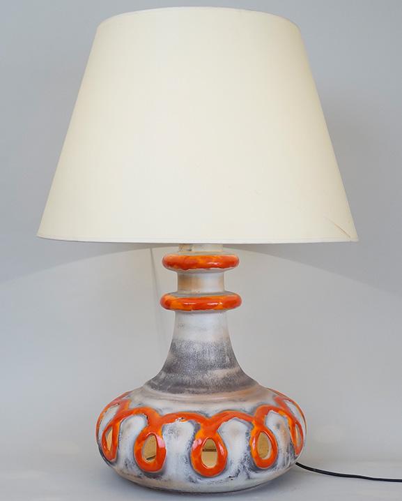 L 461 – Lampe bicolore  Haut : 78 cm / 30.7 in.