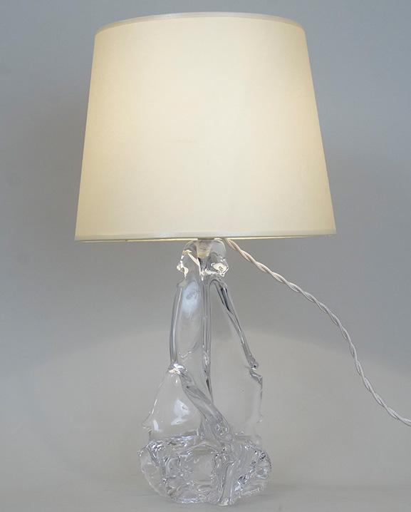 L 484 – Lampe cristal  Haut : 60 cm / 23.6 in.
