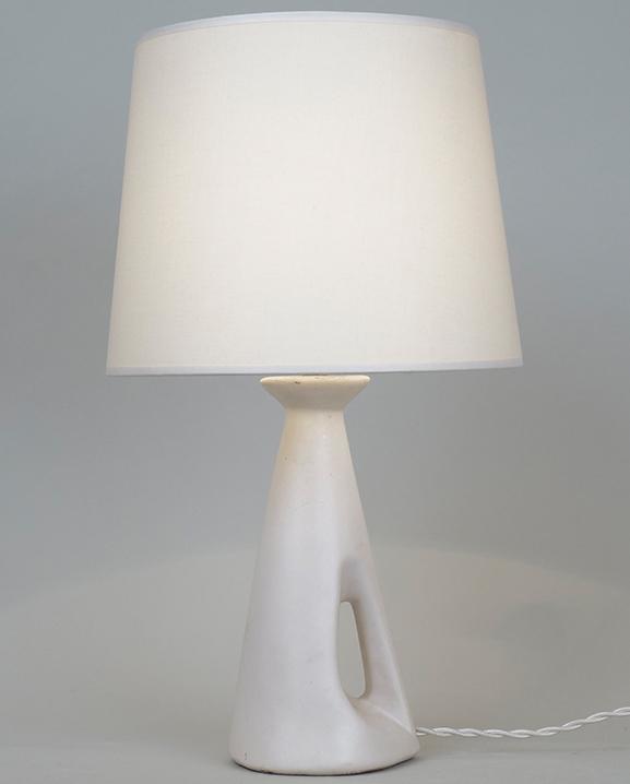 L 504 – Lampe blanche  Haut : 39 cm / 15.4 in.