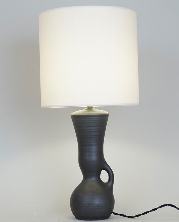 L 510 – Lampe noire  Haut : 47 cm / 18.5 in