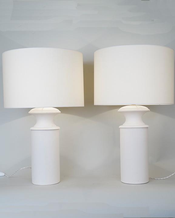 L 547 – Paire de lampes   Haut : 62 cm / 24.4 in.