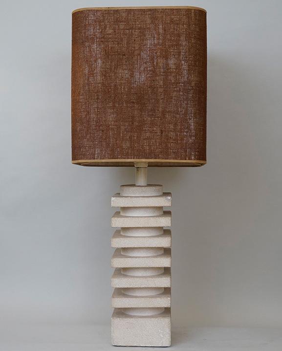 L 594 – Lampe pierre  Haut : 82 cm / 32.3 in.
