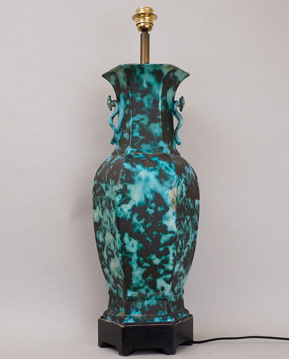 L 596 – Lampe bleue  Haut : 64 cm / 25.2 in.