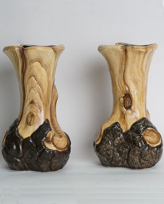 Ob 345 – Paire Cérart   Haut : 24 cm / 9.5 in.