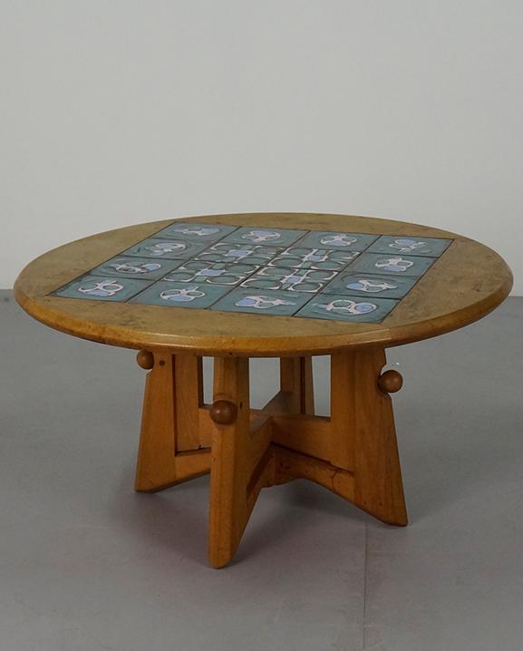 T024 -Table Guillerme  Diam :   93 cm / 36.6  in .