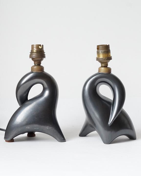 L 611 – Paire de Lampes   Haut : 13 cm / 5.1 in.