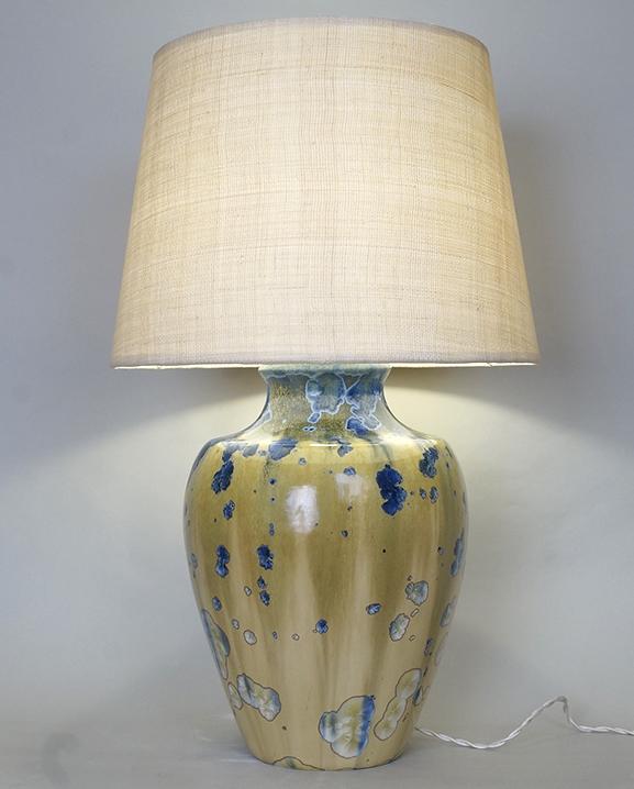 L 621 – Lampe céramique irisée  Haut : 59 cm