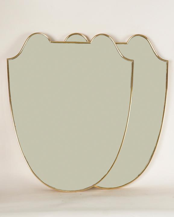 M 291 – Paire de Miroirs   Haut : 72 cm / 28.3 in.
