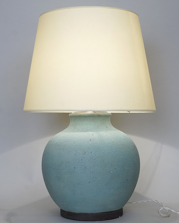 L 655 – Lampe Keramos verte Haut : 48 cm / 18,9 in.