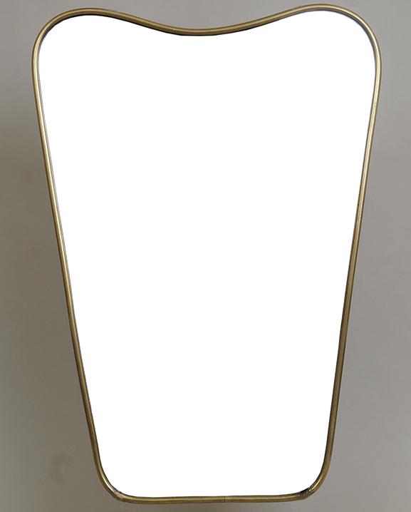 M 303 – Miroir en laiton   H : 50 cm L : 35 cm