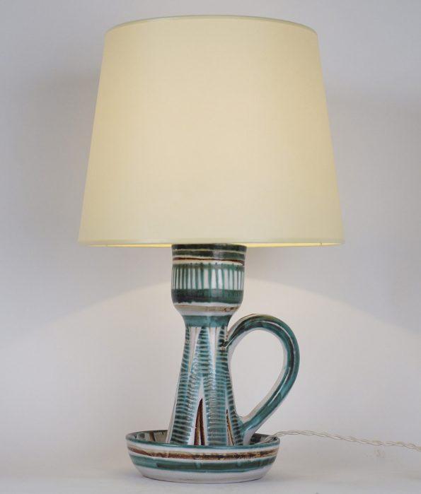 L 349- Lampe  bougeoir R Picault  Haut : 44 cm