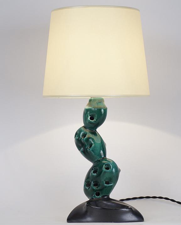 L 398 – Lampe céramique cactus Haut : 43 cm /16,9 in