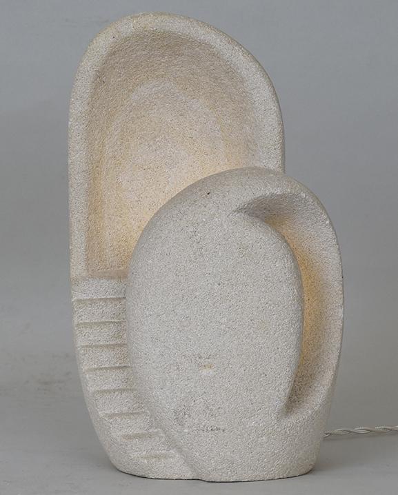 L 733 – Lampe A Tarnos  Haut : 29 cm / 11,4 in.