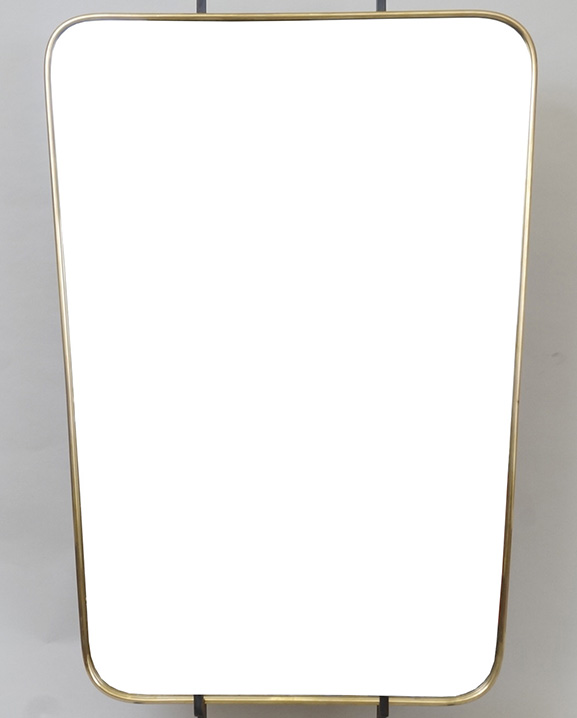 M 319 – Miroir en laiton   H : 70 cm L : 50 cm