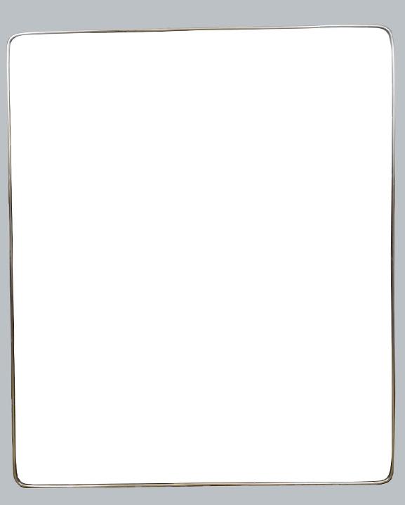 M 326 – Grand Miroir en laiton   H : 127 cm L : 105 cm