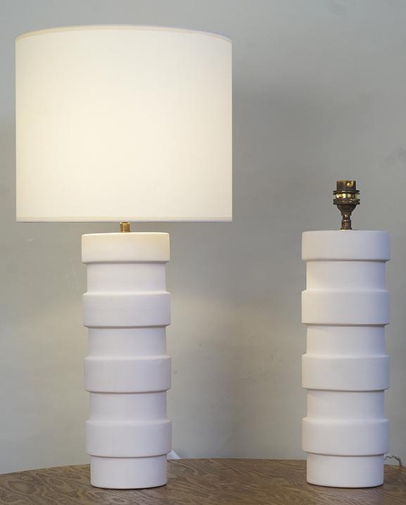 L 743 – Paire de lampes   Haut : 49 cm / 19.3 in.