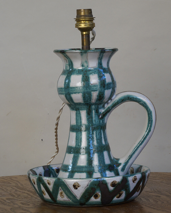 L 745 – Lampe R Picault Haut : 24 cm / 9,5 in.