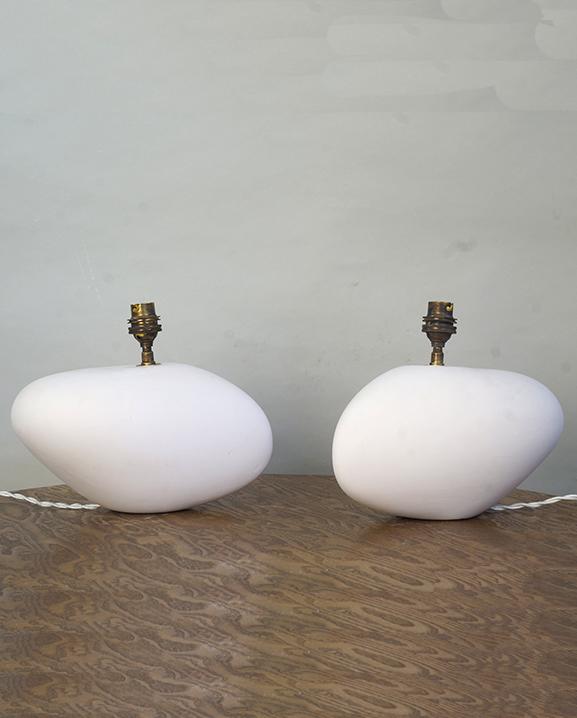 L 754 – Paire de lampes   Haut : 14 cm / 5,5 in.