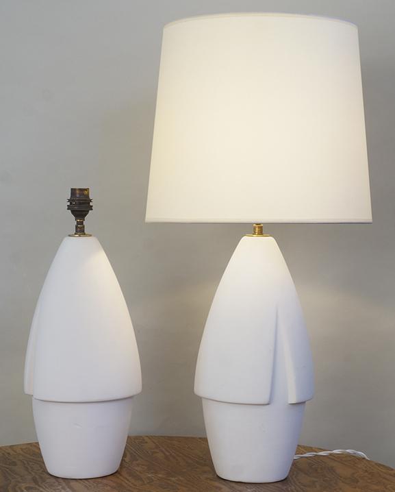 L 755 – Paire de lampes   Haut : 56 cm / 22,4 in.