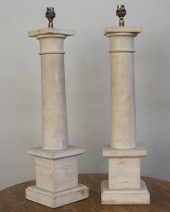 L 756 – Paire de lampes   Haut : 54 cm / 21,3 in.