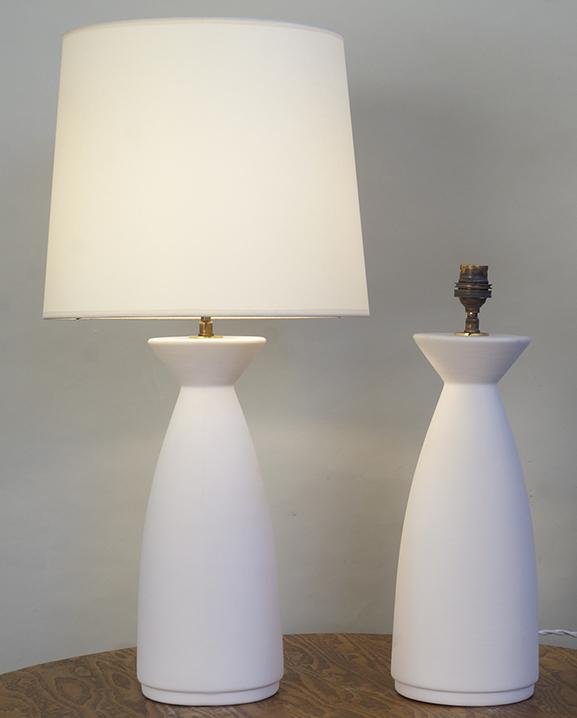 L 758 – Paire de lampes   Haut : 57 cm / 22,8 in.