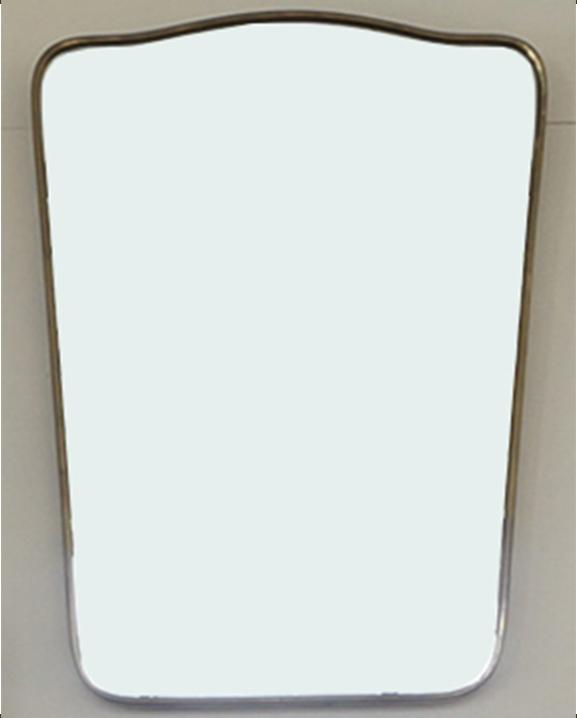 M 333 – Miroir en laiton   H : 53 cm L : 34 cm