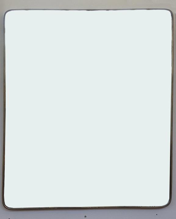 M 335 – Miroir en laiton   H : 90 cm L : 66 cm