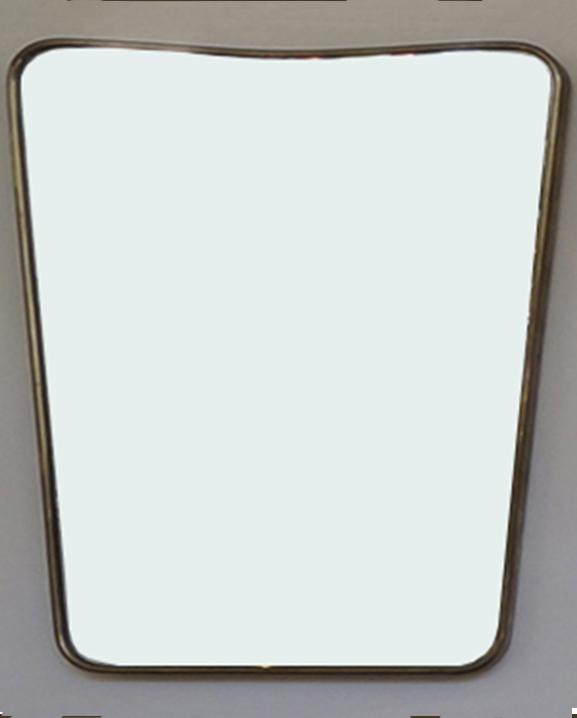 M 338 – Miroir en laiton   H : 50 cm L : 38 cm