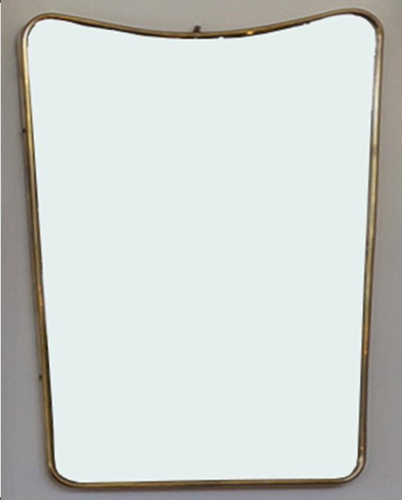 M 340 – Miroir en laiton   H : 56 cm L : 37 cm