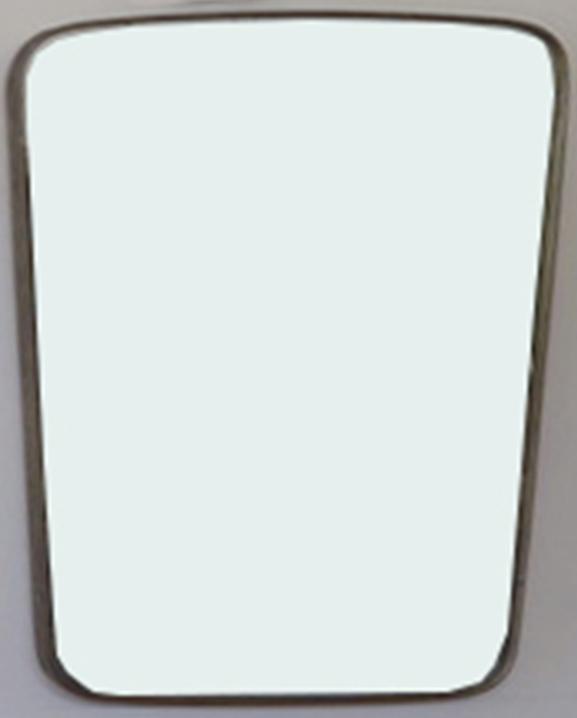 M 341 – Miroir en laiton   H : 73 cm L : 48 cm