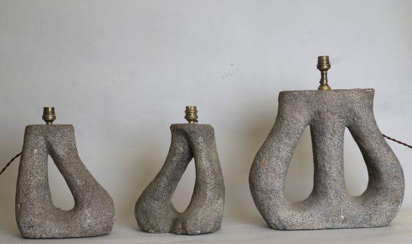 Lampes en pierre granitique à retrouver sur le site L 762-L 763-L 764
